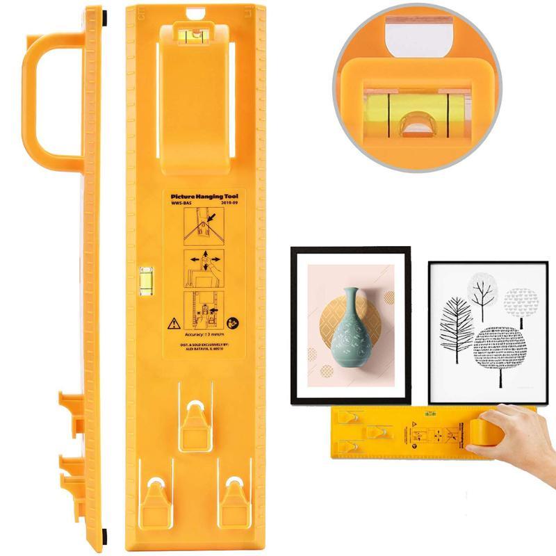 ABS Photo Frame Ruler 1 Set Spirit Level Angle Gauge Finder Picture Hanging Kit DIY Level Ruler Hand Tool 35*9cm