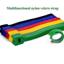 Lot de 50 pièces de fil de raccordement Velcro de type T, 15x1.2cm, organisateur de câbles réutilisables, câble de données d'ordinateur coloré