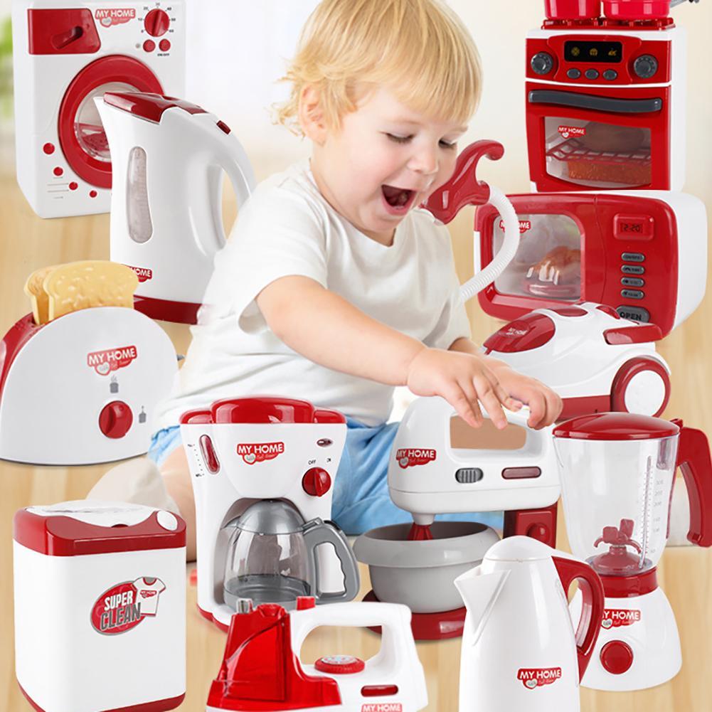 Kids Educational Coffee Maker Bread Machine Mini Home Appliance Pretend Play Toy