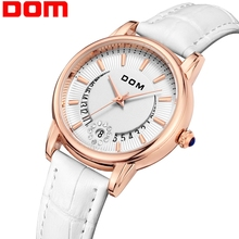 Women Watches DOM Fashion Ladies Casual Luxury Brand Leather Strap clock hours Q