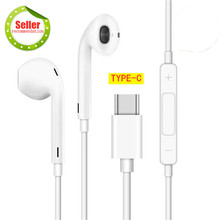 Buy Strong Recommend, HIFI Type-c Earphones with Microphone For Huawei Xiaomi iPhone Samsung, Super Bass Stereo Earphone, Best Gift directly from merchant!