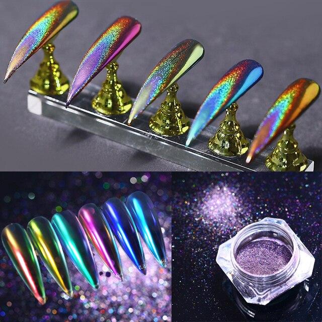 Poudre de paillettes dongle miroir de poussière dongle effet caméléon Chrome Pigment poudre dongle décorations dart dongle