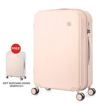 цена на Mixi Women Luggage PC Suitcase Travel Trolley Case Men Mute Spinner Wheels Rolling Luggage Case TSA Lock Carry Ons M9236