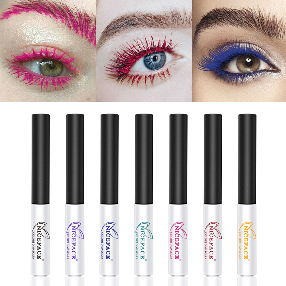 1PC 4D Superfine Fiber Colorful Waterproof Mascara Fast Dry Long Lasting Curling Eyelashes New Eyelash Curling Extension