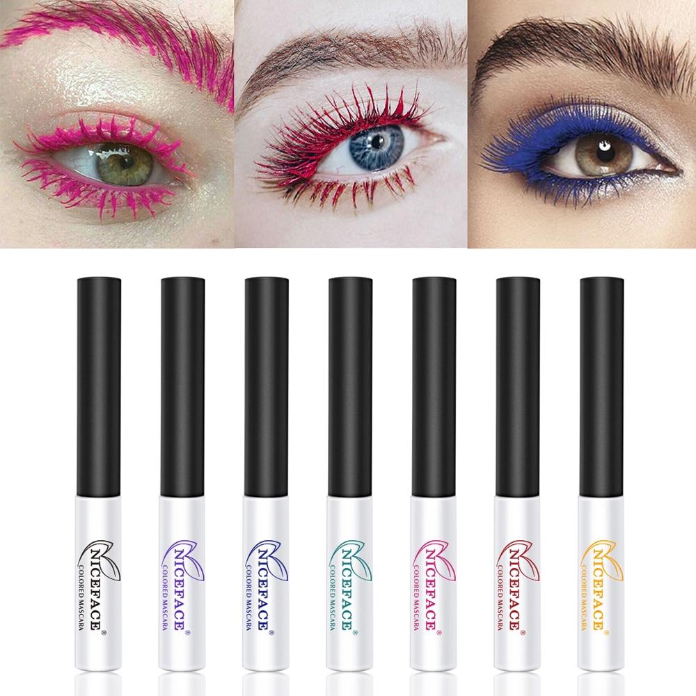 1PC 4D Superfine Fiber Colorful Waterproof Mascara Fast Dry Long Lasting Curling Eyelashes New Eyelash Curling Extension