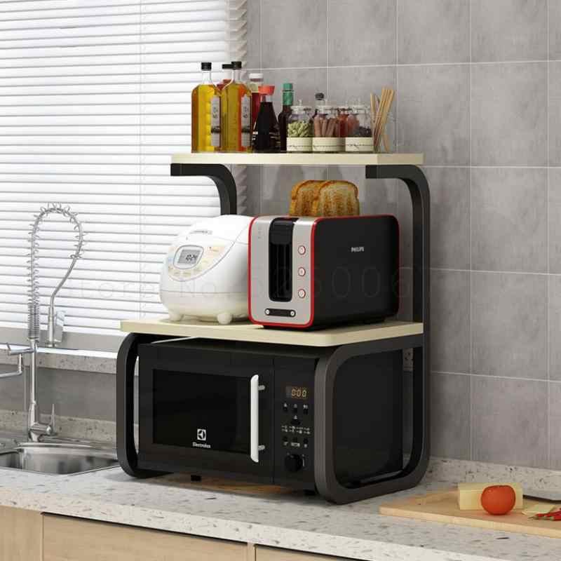 etagere de cuisine sur pied support de four a micro ondes a plusieurs niveaux rangement multifonctionnel etagere d assaisonnement pour la cuisine