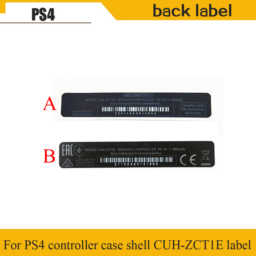 10 pcs For Playstation 4 PS4 controller case Housing shell Slim black mark back label paste sticker label seals