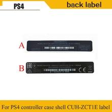 10 pcs For Playstation 4 PS4 controller case Housing shell Slim black mark back label paste sticker seals