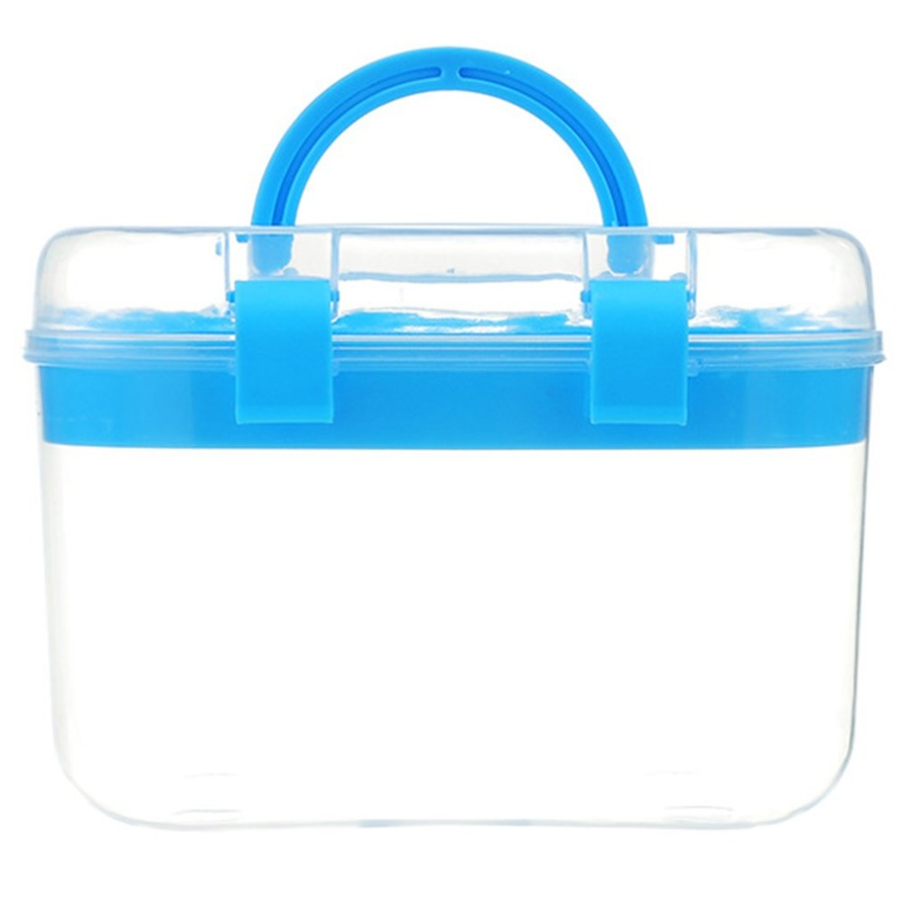 Medical-Box Health-Care-Kits Transparent Portable With Handle 154G Double-Layer-Design