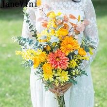 Свадебные букеты из искусственных цветов оранжево желтого цвета