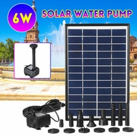 6W Solar Power Panel Water Pump 500L/H Garden Landscape Floating Fountain Artificial Outdoor Fountain Home Decoration Pump Set