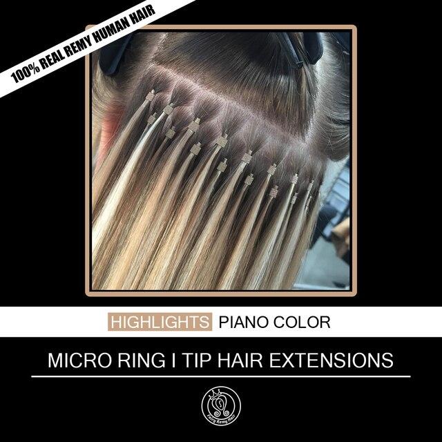 Kératine collée I Tip Extension de cheveux 100% Remy européenne faits saillants Extensions humaines 16 20 pouces 0.8 g/pc 50 pcs/pack fée Remy cheveux