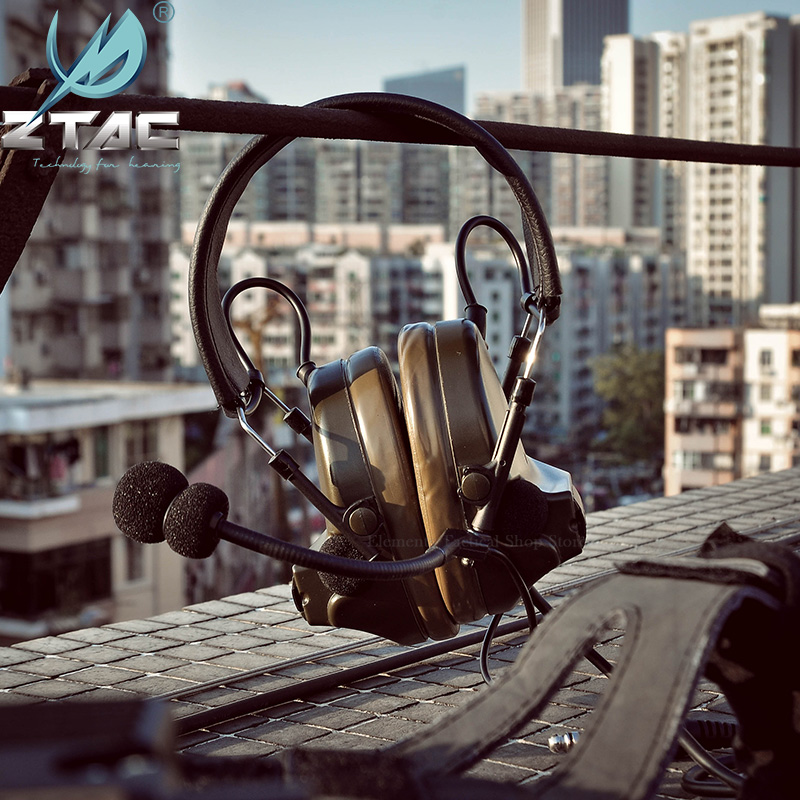 Тактическая гарнитура Z TAC для охоты Comtac II 6th Circuit Board 2020 версия 2 режима шумоподавление тактическая гарнитура Softair-2