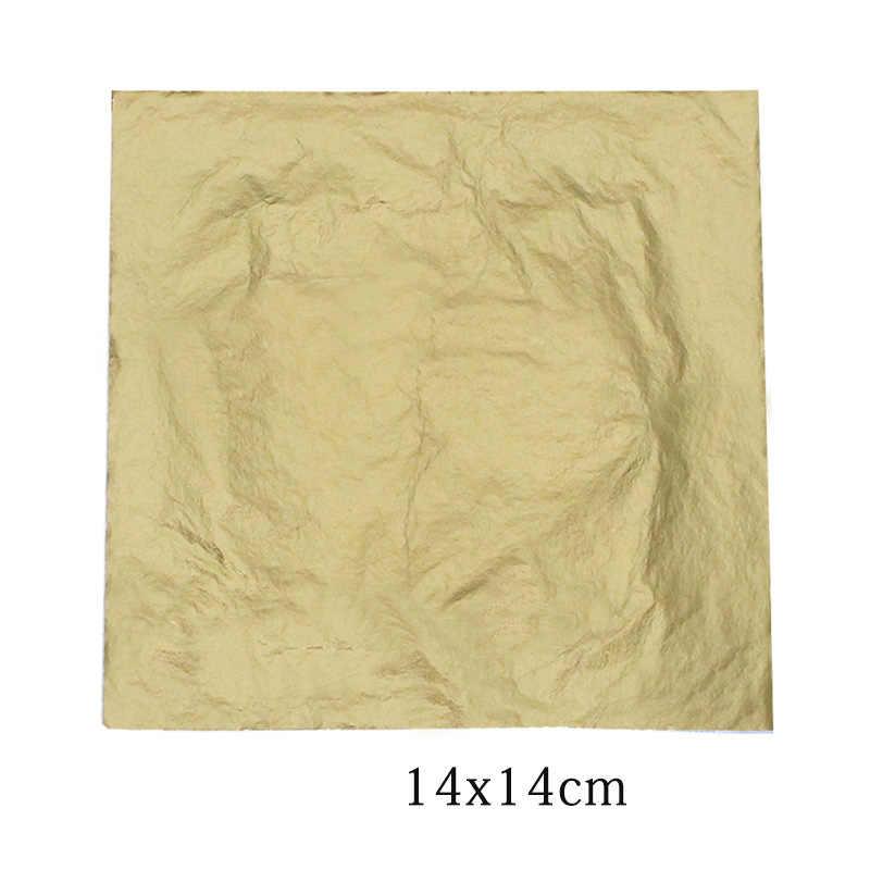 100 blatt Gold Silber Kupfer Blatt Folie Papier Für Vergoldung Handwerk DIY HOME Decor Home Garten Liefert