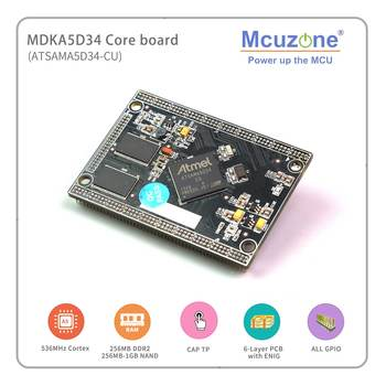 A5D34 ATMEL ATSAMA5D34 MDKA5D34 Coreboard, 536MHz CPU, 256MB DDR2, 256MB NAND, High speed USB, ISI, Ethernet, 6xUART, CAN