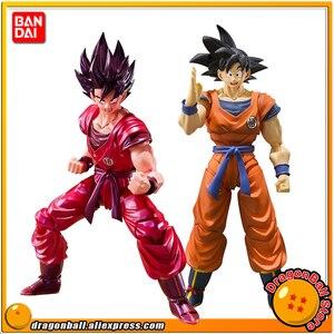 """Image 1 - """"Dragon Ball Z"""" 100% Original BANDAI Tamashii Nations S.H. Figuarts/figura de acción SHF Son Goku kaio ken"""