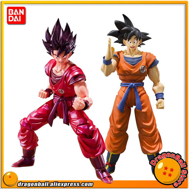 """Dragon Ball Z"" 100% Originele Bandai Tamashii Naties S.H. Figuarts/Shf Action Figure Zoon Gokou Kaio Ken"