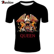 2019 New QUEEN T Shirt Men Short Fashion Printing T-shirt Queen Rock Band Shirts Black T-shirts For Streetwear Tshirt 4XL