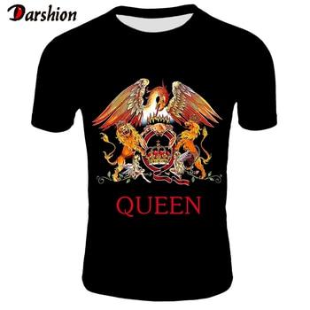 2019 New QUEEN T Shirt Men Short Fashion Printing T-shirt Queen Rock Band T Shirts Black T-shirts For Men Streetwear Tshirt 4XL
