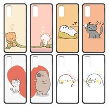Leuke Cartoon Liefde Liefhebbers 3D Waterdichte Black Phone Case Cover Romp Voor Samsung Galaxy J S 3 4 5 6 7 8 9 10 Prime Plus Lite Rand(China)