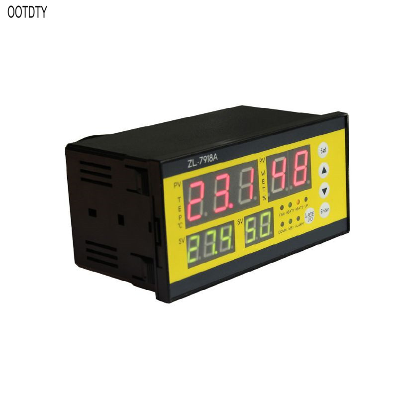 OOTDTY <font><b>ZL</b></font>-<font><b>7918A</b></font> Multifunction Automatic Incubator 100-240V LCD Temperature Humidity Control XM 18 Thermostat for Warehouse image