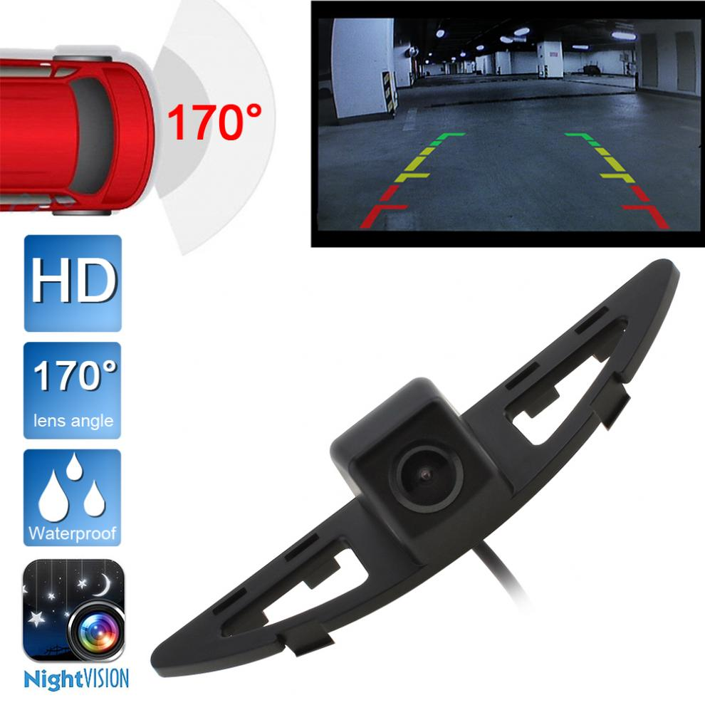 CCD HD 480TVL Car Rear View Camera 170 Degree Wide Angle Auto Reverse Backup Parking Rearview Camera For 08 11 12 14 Honda City