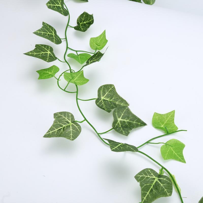 2.1M Artificial Leaves Plastic Plant Vine Fake Foliage Flowers Living Room Club Bar Decorated Leaves Green Plant Home Decor