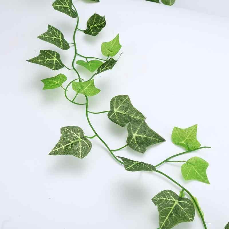 Decoración de la boda Artificial de enredadera de eucalipto verde plantas artificiales falsas de mimbre guirnalda de hiedra decoración de pared Vertical jardín