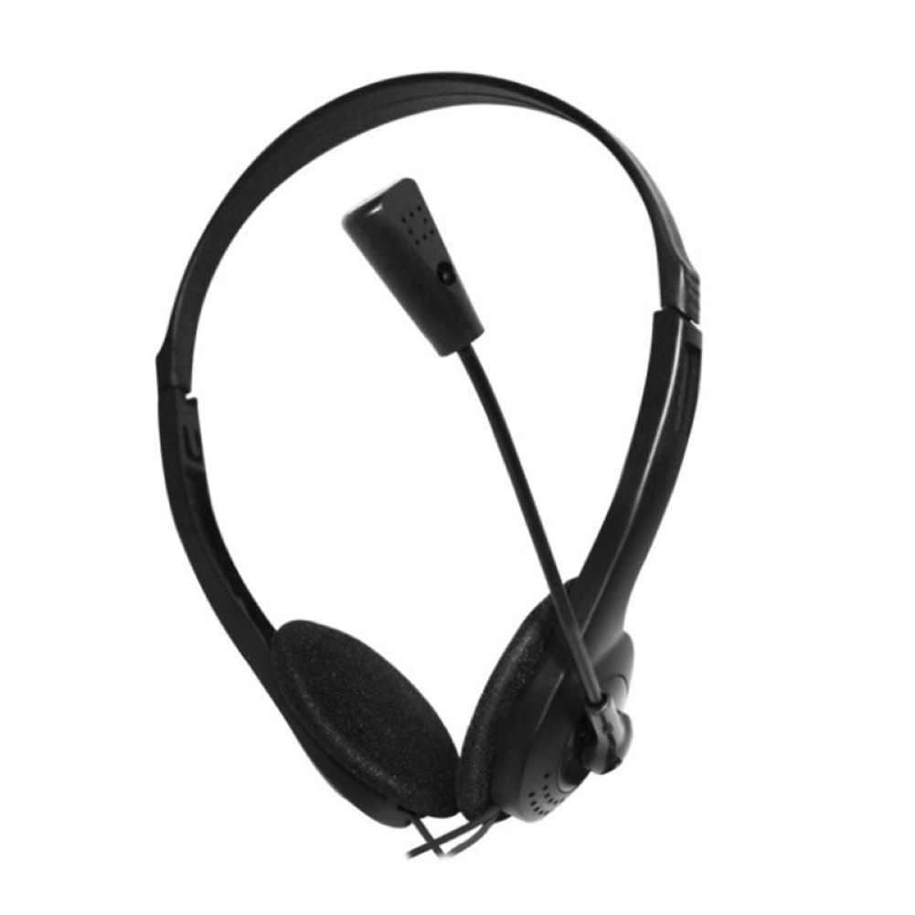 Wired כבד בס סטריאו אוזניות אוזניות אוזניות הפחתת רעש 3.5mm אוזניות מקצועי סטודיו אוזניות עם מיקרופון למחשב