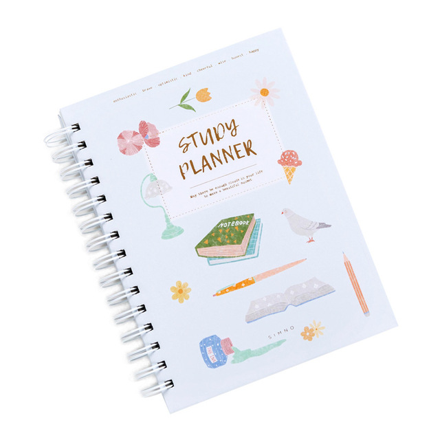2020 Planner Coil NoteBook A5 Kawaii Palnner Book Bullet Journal Diary Annual Month Week Plan Cartoon Flower Journal Notebook 5