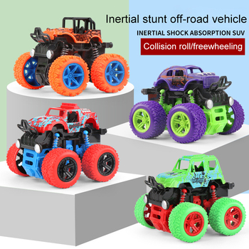 Children Car Toy 2020 4WD Inertial Stunt Safety Off-road Vehicle Model Boy Toys Toy Car Birthday Holiday Gift SUV Model knl hobby j deere model a tractor agricultural vehicle safety model gift act ertl 1 16
