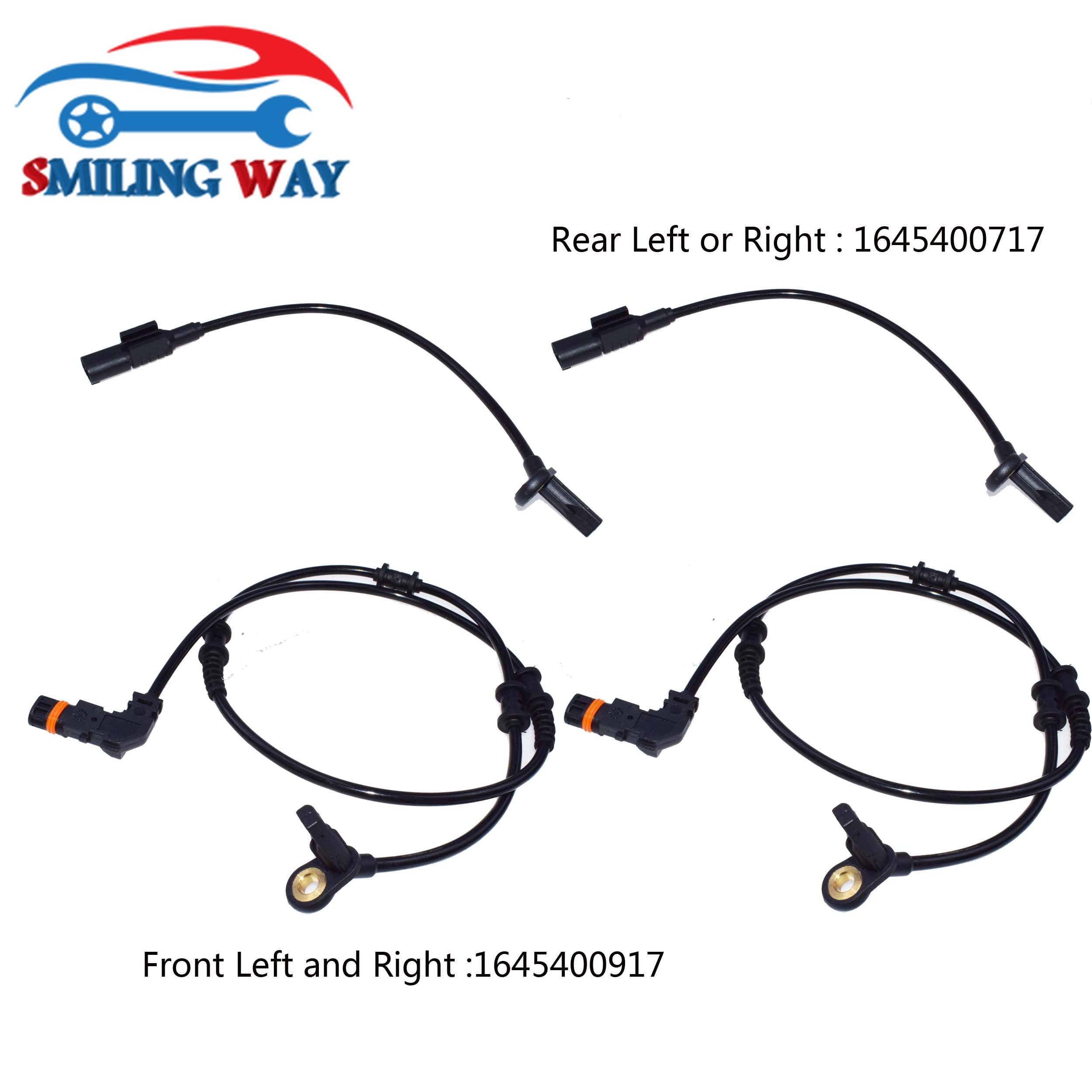 Front Rear Left Right ABS Wheel Speed Sensor For Mercedes-Benz X164 W164 W251 GL350 GL320 ML320 ML350 OE# 1645400717 1645400917(China)