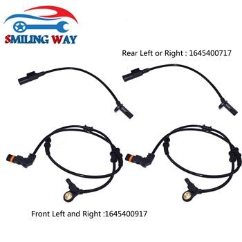 Przód tył lewy prawy ABS czujnik prędkości koła dla Mercedes-Benz X164 W164 W251 GL350 GL320 ML320 ML350 OE #1645400717 1645400917 tanie i dobre opinie UŚMIECHNIĘTA SPOSÓB OE 1645400917 A1645400917 For ML450 ML280 ML63 AMG ML420 ML500 OE 1645400717 A1645400717 For GL450 GL500 ML300 R280 R300 R320 GL420