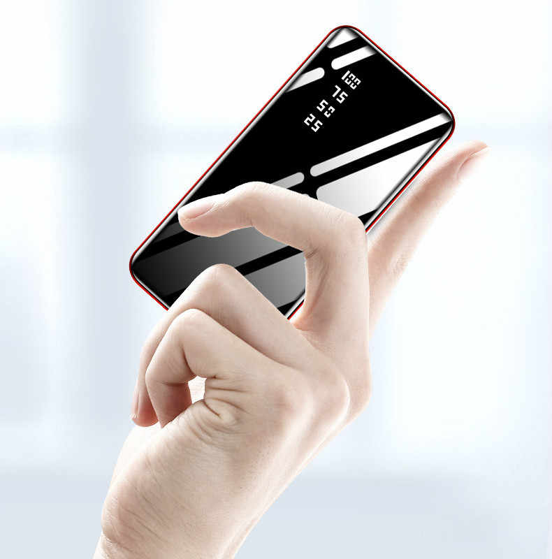 30000 MAh Power Bank External Battery Poverbank 2 USB LED Powerbank Portable Mobile Phone Charger untuk Xiao Mi Mi iPhone 8 X Huawei