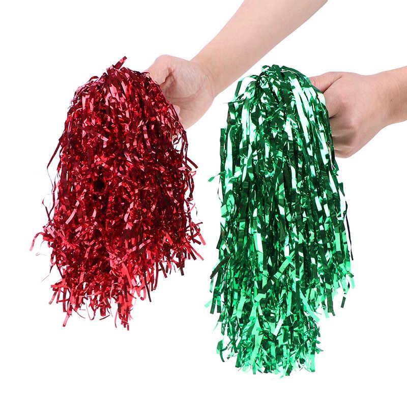 1PC Del Fiore della Sfera Poms Per Il Per Il Calcio Partita di Pallacanestro Pompon I Bambini Usano Cheer Danza Sport Concorrenza Cheerleading Pom