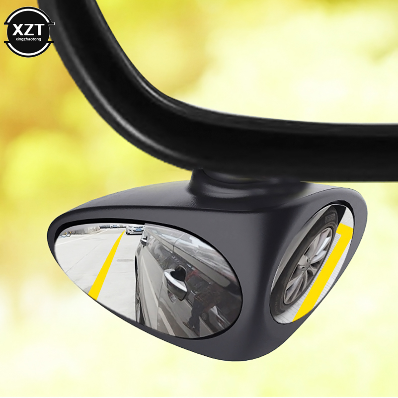 360 Degree Rotatable 2 Side Car Blind Spot Convex Mirror Automobile Exterior Rear View Parking Mirror Safety Accessories