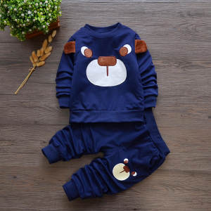 Boy Suit Pants T-Shirt Children's Clothing Autumn Sports Tops Long-Sleeve