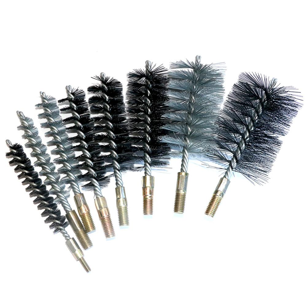 25mm Dia Steel Wire Pipe Tube Chimney Cleaning Brush 2pcs