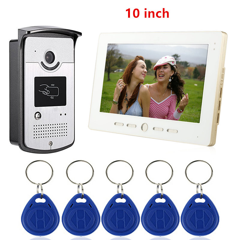 7'' TFT LCD Wired RIFD Video Intercom Doorbell Door Phone System For Home Indoor Monitor 700TVL IR Outdoor Camera Metal