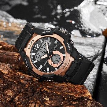Oshen męskie zegarki wodoodporne sportowe wojskowe Watche Shock luksusowe analogowe zegarki sportowe cyfrowe mężczyźni darmowa wysyłka