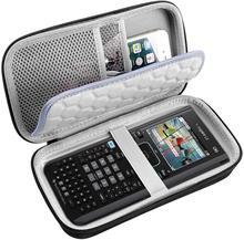 Caso de viagem para texas instrumentos ti nspire cx cas/ii/Ti-84 plus ce calculadora de grafiação, grande capacidade para canetas, cabos
