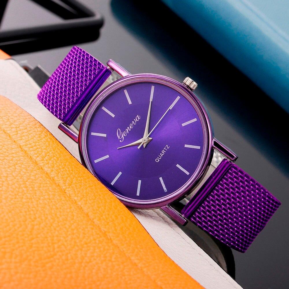 часы женские Women Watch Leisure Strap Quartz Watch Woman's High-end Blue Glass Life Waterproof Distinguished Relogio Masculino 1