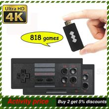 818 4K Spiele USB Drahtlose Konsole Klassische Spiel Stick Video Spiel Konsole 8 Bit Mini Retro Controller HDMI Ausgang dual Player HD