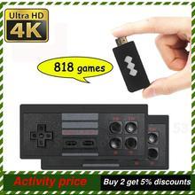 818 4K ألعاب USB اللاسلكية وحدة التحكم الكلاسيكية لعبة عصا لعبة فيديو وحدة التحكم 8 بت صغيرة الرجعية تحكم HDMI الناتج المزدوج لاعب HD