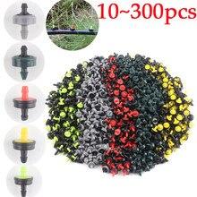 10 pcs 300 pces jardim irrigação sprinkler 4l 8l 10l 20l 30l fluxo de poupança de água dripper plástico frutas vegetais rega emissores