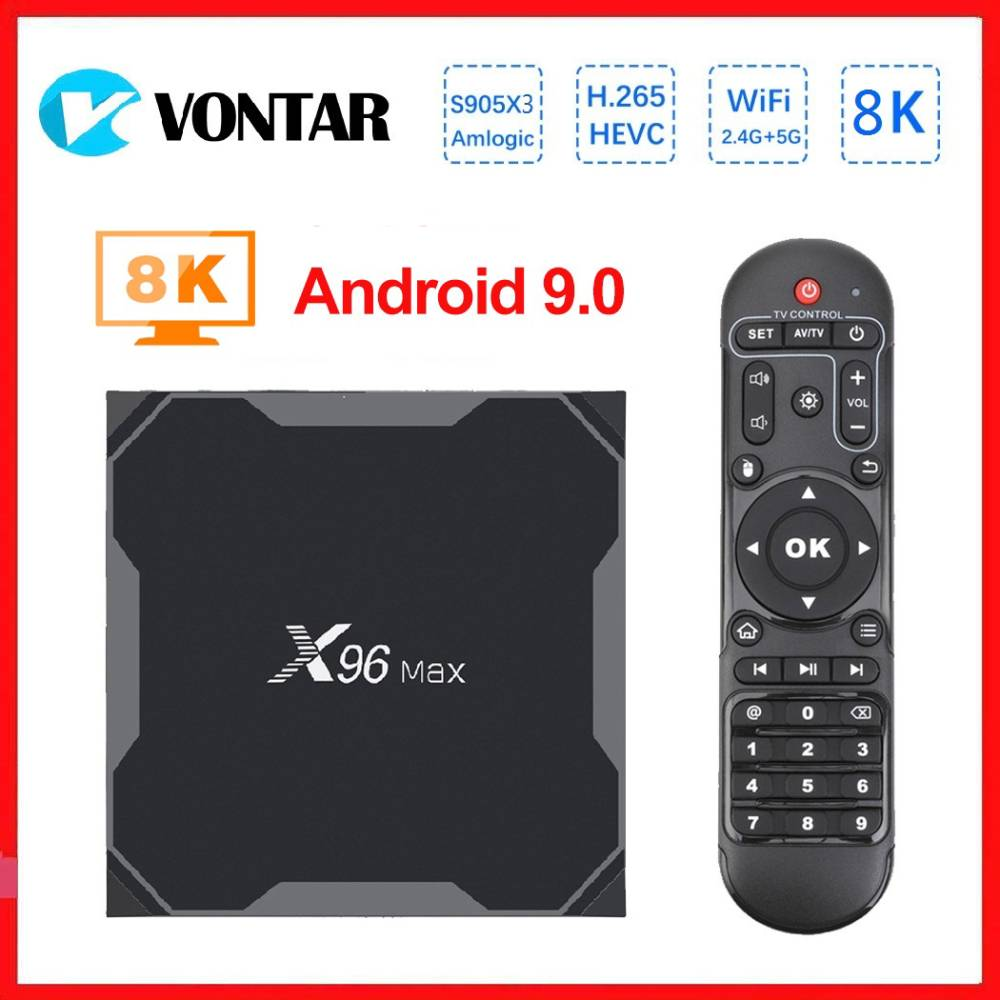 Vontar 8K Smart TV Box Android 9.0 X96 Max + Amlogic S905x3 Media Player 4GB 64GB X96Max Plus Set Top Box QuadCore 5G Wifi
