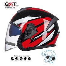 GXT bluetooth Motorcycle Helmet headset Biker Moto Helmet earphone wireless speaker Motorbike Crash Helmet Casco with bluetooth