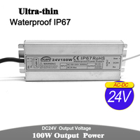 100W 24V Ultrathin Power Supply IP67 Waterproof Transformers 100 240v AC DC24V Outdoor Power Adapter For Led Strip Light CCTV