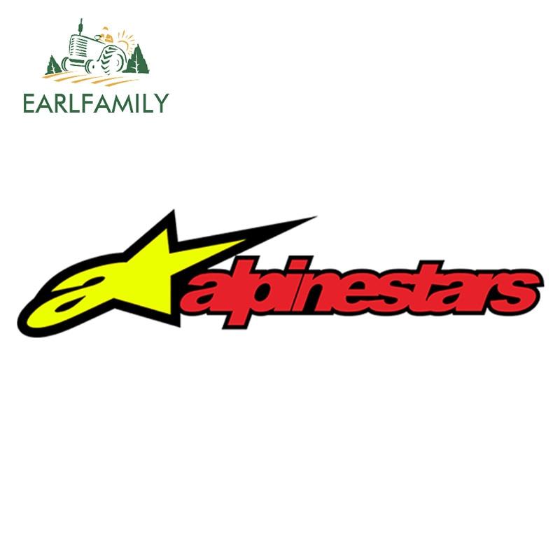 EARLFAMILY 15cm X 4cm Vinyl Stickers For Alpinestars Astar Auto Moto Bike Car Helmet Racing Tuning Decal Car Styling