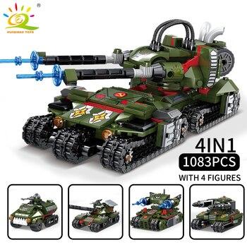 """Конструктор HUIQIBAO """"Военный танк"""", 1083 шт. 4 в 1 2"""